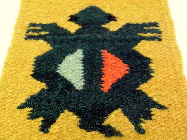 ペルー製手織りコースター カメ