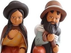 セラミカ ナシミエント(キリスト生誕)セット マリアとホセ
