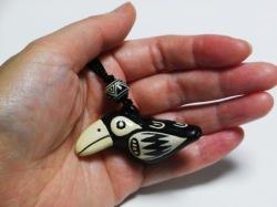 鳥の鳴き声 オオハシのオカリナペンダント