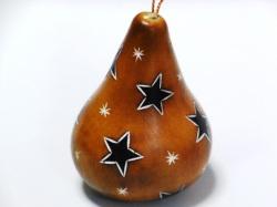ひょうたんクリスマスオーナメント 星 茶