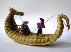 ペルーお土産 ウロス島 トトラの舟 バルサ