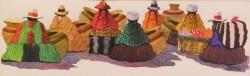 ペルーお土産 アンデスの人々 絵画