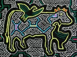 ペルー土産 シピボ族刺繍布